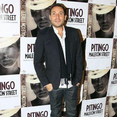 Antonio David Flores en la presentación del disco de Pitingo