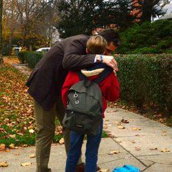 Iñaki Urdangarín besa a su hijo Pablo Urdangarín