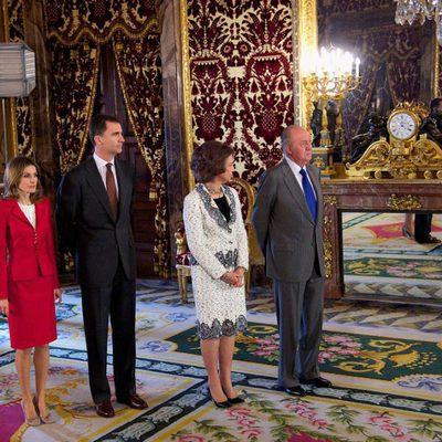 Los Príncipes de Asturias y los Reyes de España en el Palacio Real