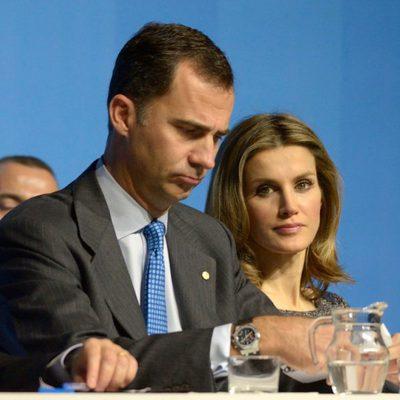 Felipe y Letizia en la presentación de la Fundación Príncipe de Girona en Barcelona