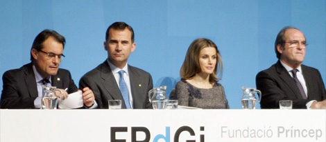 Artur Mas, los Príncipes Felipe y Letizia y Ángel Gabilondo en Barcelona