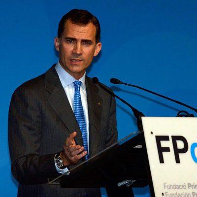 Don Felipe durante su discurso en la presentación de la Fundación Príncipe de Girona en Barcelona