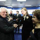 La Infanta Elena saluda a Pepe Sancho en los Premios Alfonso Ussía