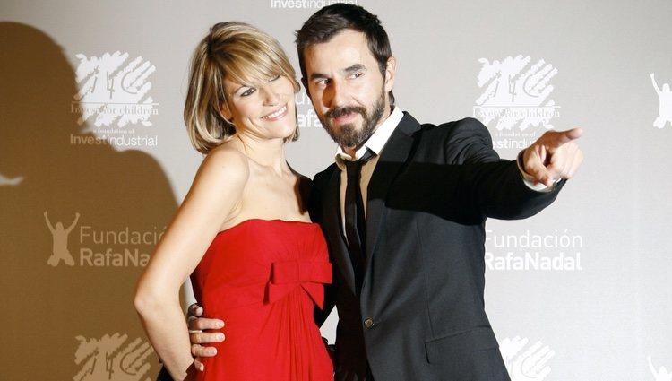 Santi Millán y Rosa Olucha en la cena benéfica de la Fundación Rafa Nadal
