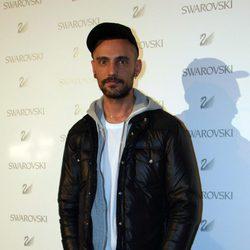 David Delfín en la inauguración de una tienda de Swarovski