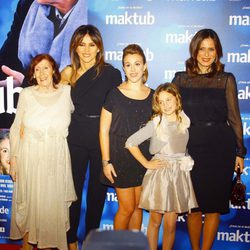 Mariví Bilbao, Goya Toledo, Laura Esquivel y Aitana Sánchez Gijón en el estreno de 'Maktub'