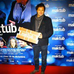 Fernando Andina en el estreno de 'Maktub'