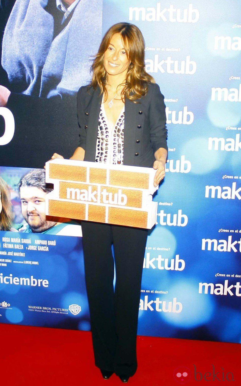Mónica Martín Luque en el estreno de 'Maktub'