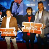 Jorge Sanz y Pablo Puyol en el estreno de 'Maktub'