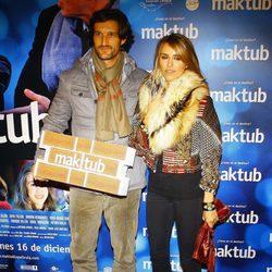 Rafael Medina y Laura Vecino en el estreno de 'Maktub'