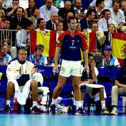 Iñaki Urdangarín en un partido de balonmano en Sidney 2000