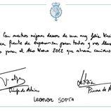 Los Príncipes Felipe y Letizia y las Infantas Leonor y Sofía felicitan la Navidad 2011