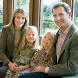 Felicitación de Navidad 2011 de los Príncipes Felipe y Letizia y las Infantas Leonor y  Sofía