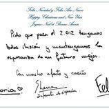 La Infanta Elena y sus hijos Victoria Federica y Froilán felicitan la Navidad 2011
