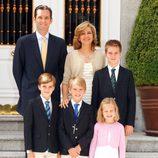 Felicitación de Navidad 2011 de los Duques de Palma y sus cuatro hijos