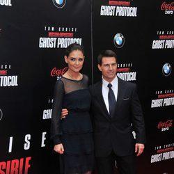 Tom Cruise  y Katie Holmes en el estreno de 'Misión imposible: Protocolo fantasma' en NY