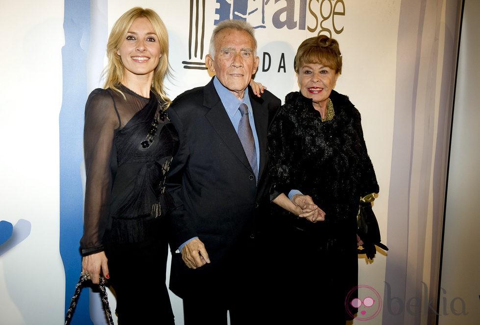Cayetana Guillén Cuervo, Fernando Guillén y Gemma Cuervo en los Premios Actúa