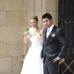Álex Ubago y María Alcorta el día de su boda