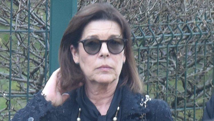 La Princesa Carolina de Mónaco en el funeral de Karl Lagerfeld