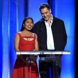 Yalitza Aparicio y Javier Bardem en la gala de los Spirit Awards 2019