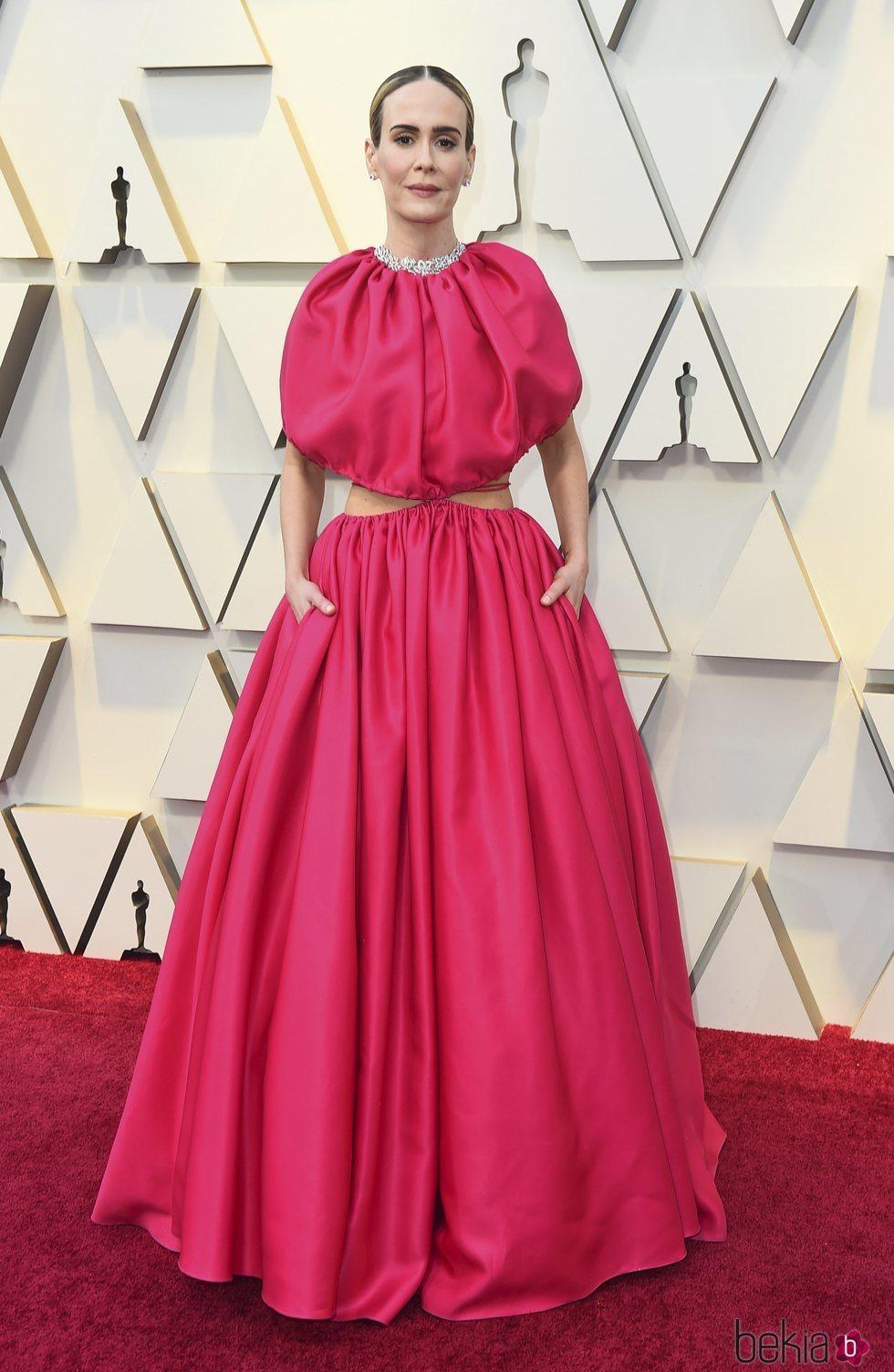 Sarah Paulson en la alfombra roja de los Premios Oscar 2019