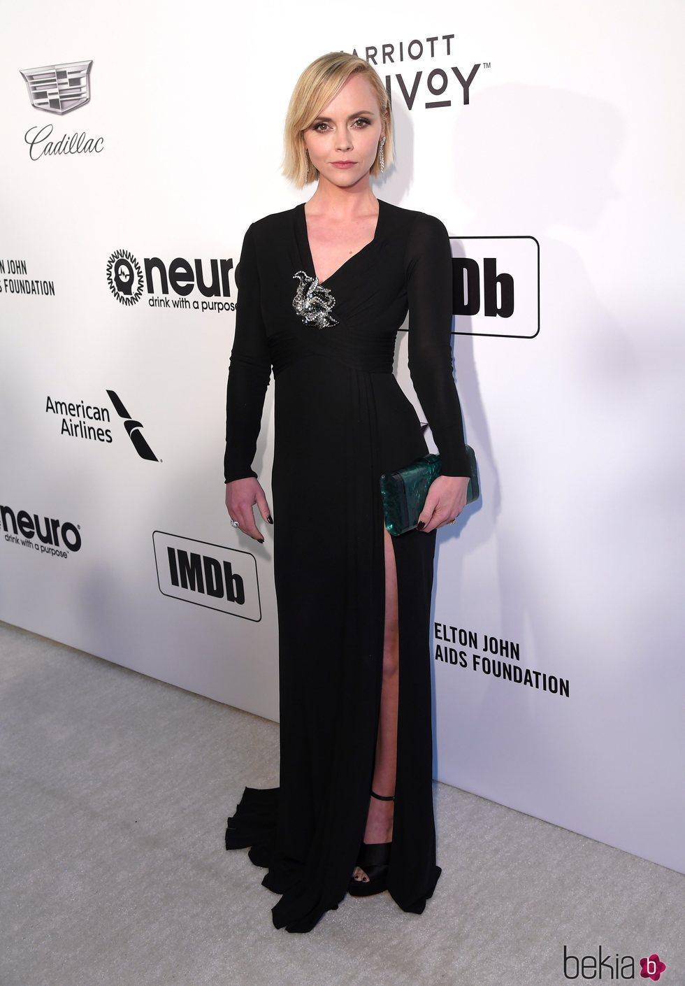 Christina Ricci en la fiesta de Elton John tras los Premios Oscar 2019