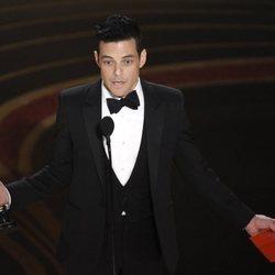 Rami Malek recogiendo el Oscar 2019 a Mejor actor