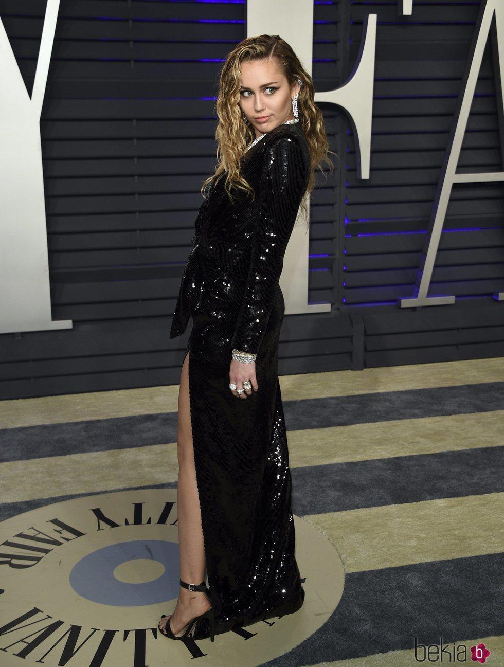 Miley Cyrus en la fiesta Vanity Fair tras los Premios Oscar 2019