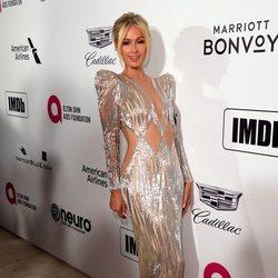 Paris Hilton en la fiesta de Elton John tras los Premios Oscar 2019