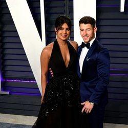 Nick Jonas y Priyanka Chopra en la fiesta de Vanity Fair tras los Premios Oscar 2019