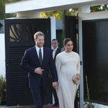 El Príncipe Harry y Meghan Markle en la cena ofrecida por el embajador de Reino Unido en Marruecos