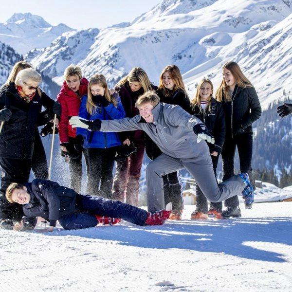 El divertido posado de invierno de la Familia Real Holandesa