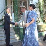 Moulay Hassan de Marruecos saluda al Príncipe Harry y Meghan Markle con motivo de su visita oficial a Marruecos