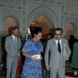 Meghan Markle hablando con Mohamed VI de Marruecos