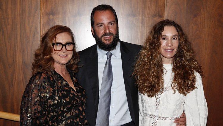 Borja Thyssen, su mujer Blanca Cuesta y su hermanastra Francesca