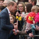 El Príncipe Guillermo en su visita a Ballymena