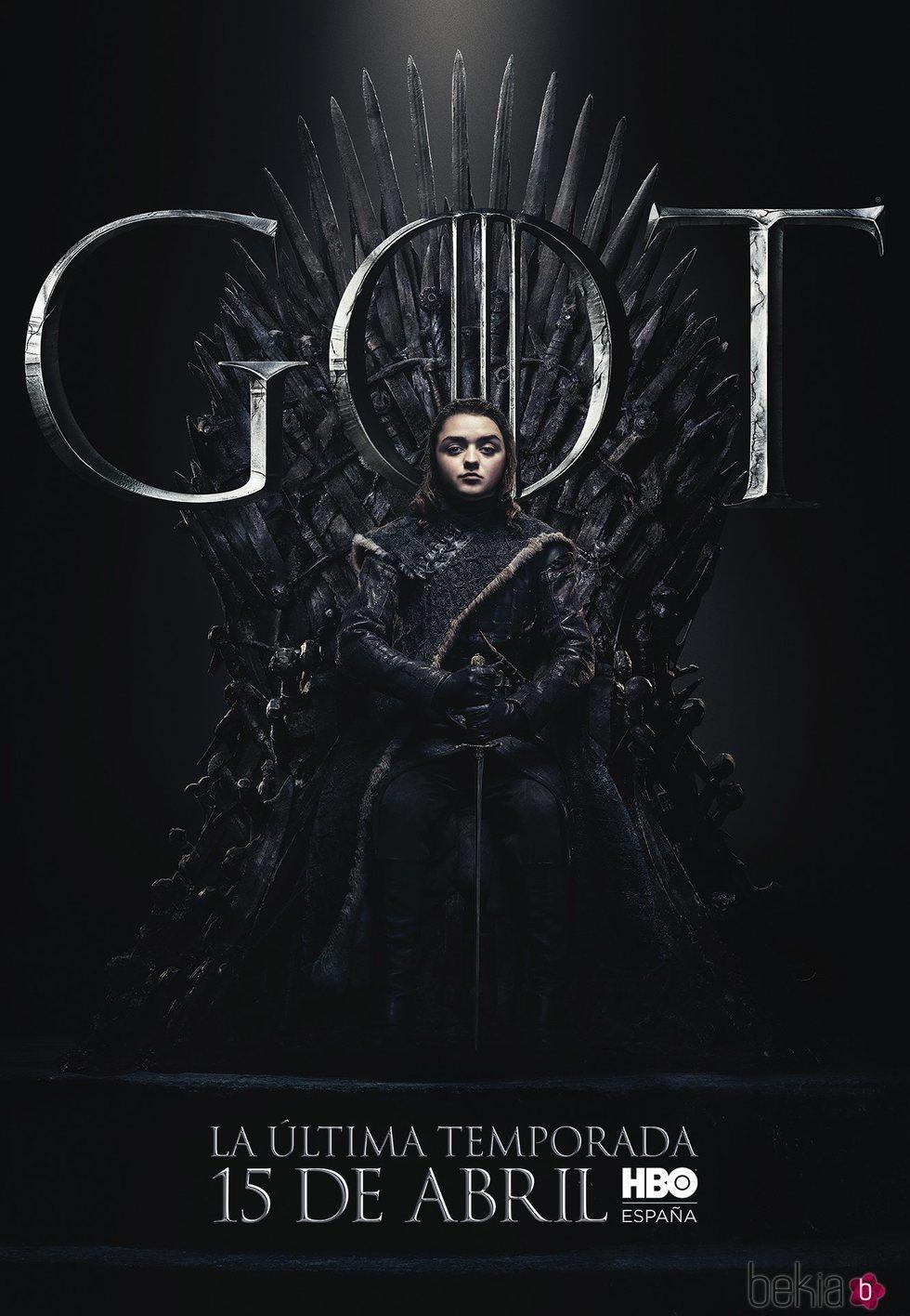 Foto cartel temporada final 'GOT' Arya Stark