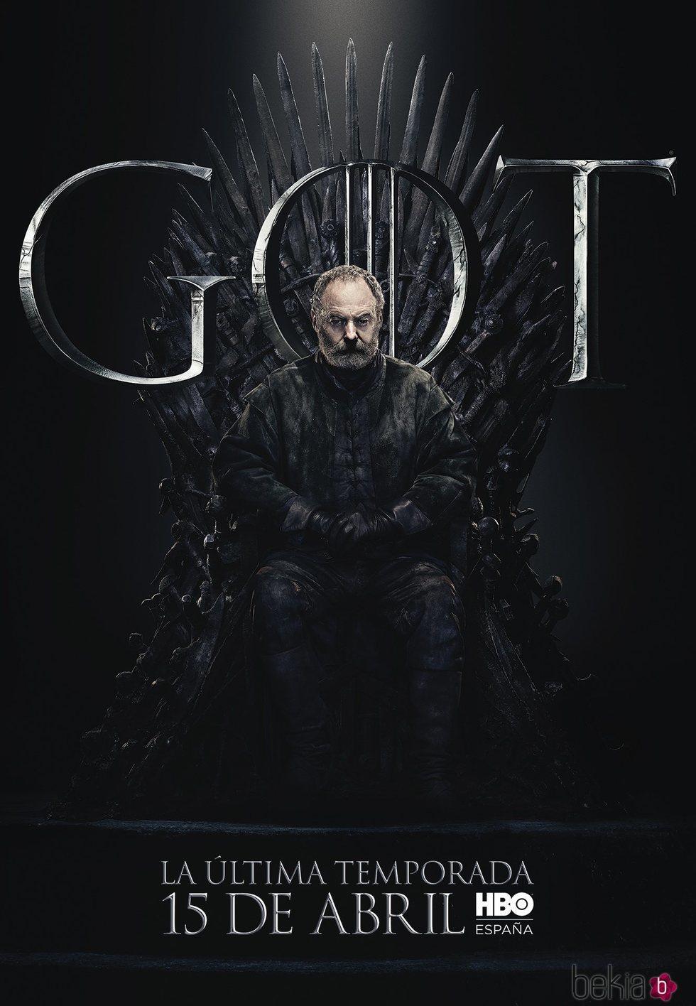 Foto cartel temporada final 'GOT' Davos Seaworth