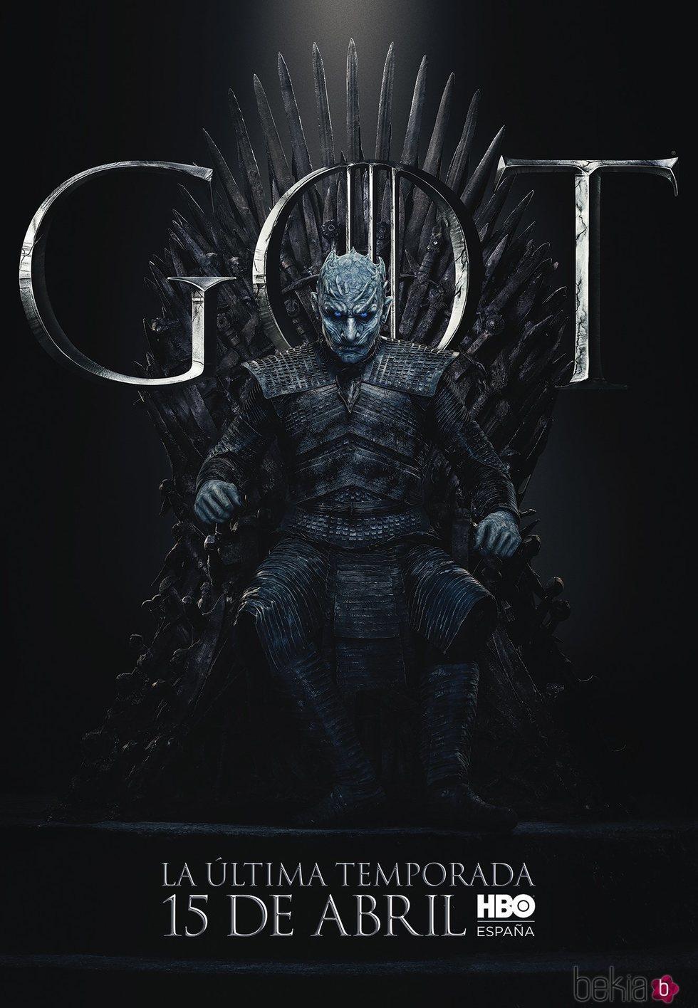 Foto cartel temporada final 'GOT' El Rey de la noche