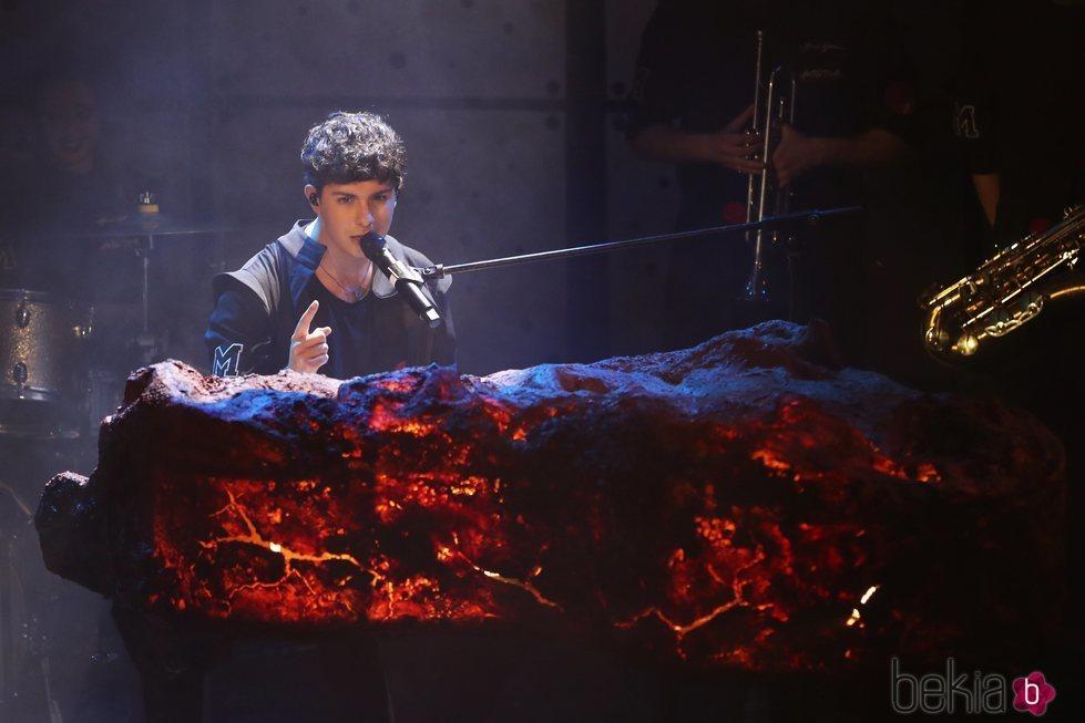 Alfred García al piano en su primer concierto de la gira en Madrid