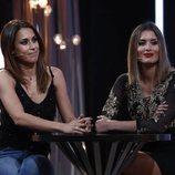 Raquel Lozano y Candela Acevedo durante la gala 9 tras salir de 'GH DÚO'