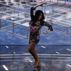 Maite Galdeano bailando flamenco durante la gala 9 tras salir de 'GH DÚO'