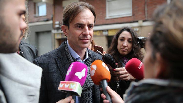 Josep Santacana a la salida de los juzgados