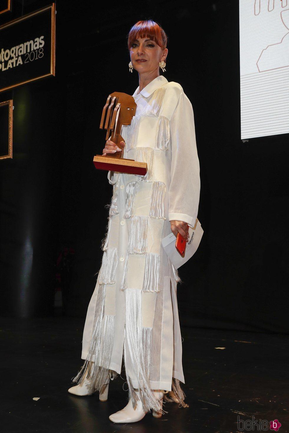 Najwa Nimri con su premio Fotograma de Plata 2018