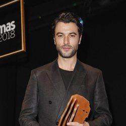 Javier Rey con su premio Fotograma de Plata 2018