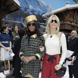 Naomi Campbell y Claudia Schiffer en el front row del desfile de Chanel otoño/invierno 2019/2020 en París