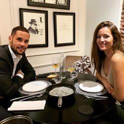 Mario Suárez y Malena Costa celebrando su aniversario