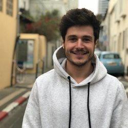 Miki Nuñez grabando la postal de Eurovisión 2019 en Israel