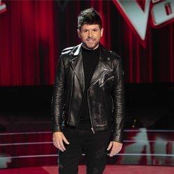Pablo López posando durante la presentación de 'La Voz'