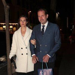 Bruno Gómez-Acebo y Bárbara Cano en el 80 cumpleaños de la Infanta Margarita